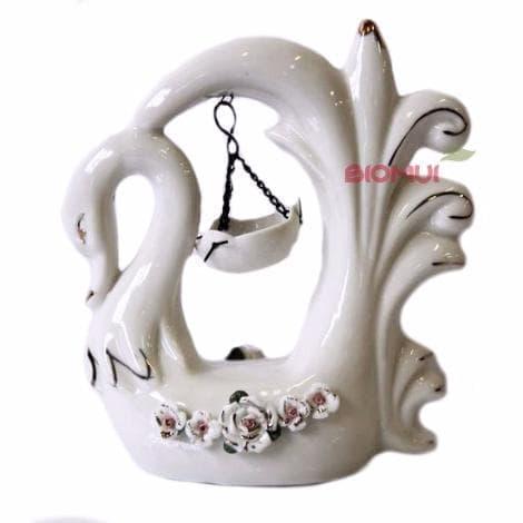 Керамическая аромалампа Лебедь