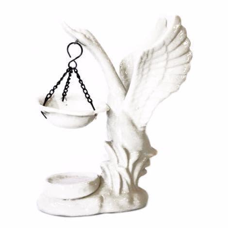 Керамическая аромалампа Лебедь малый