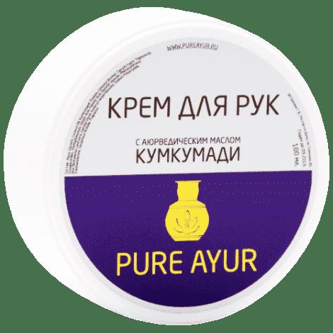 Аюрведический крем для рук с маслом Кумкумади Pure Ayur