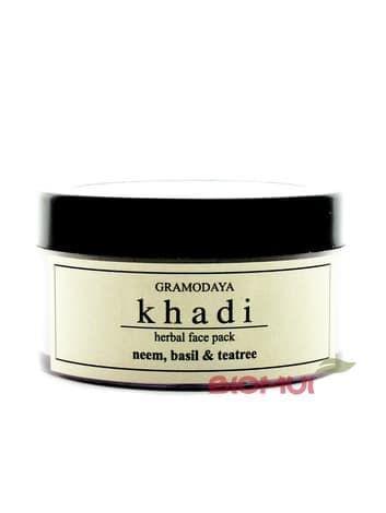 Регулирующая маска для лица с нимом чайным деревом и базиликом для проблемной кожи Khadi