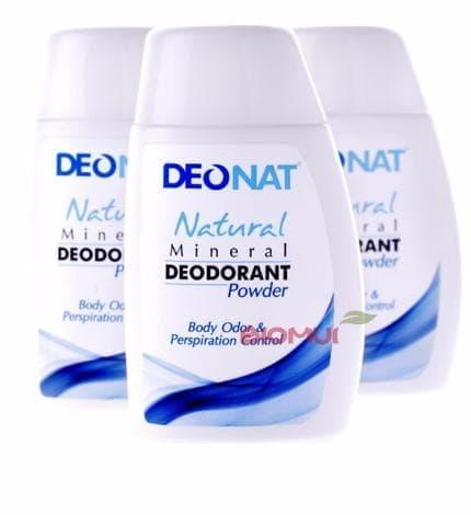 Минеральный порошковый дезодорант для ног и тела Deonat