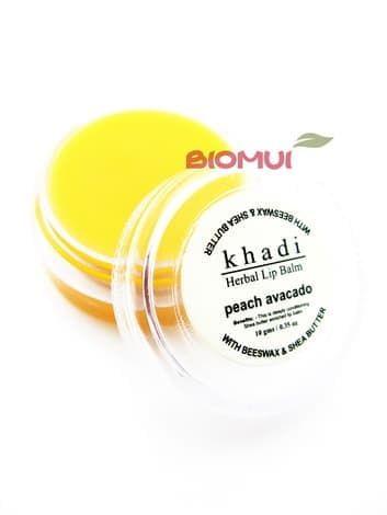 Бальзам для губ с персиком и авокадо Khadi (Indian Khadi)