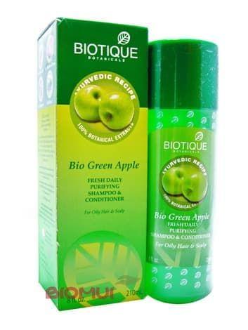 Натуральный шампунь для волос с яблоком Biotique
