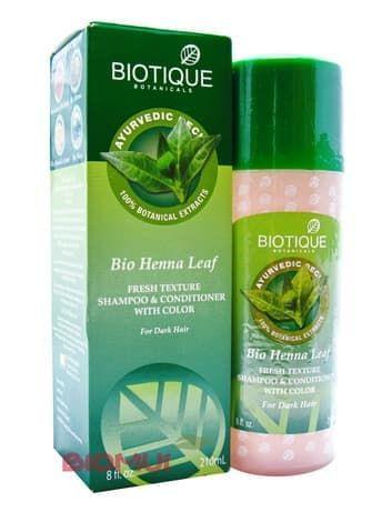 Укрепляющий шампунь для темных волос с хной Biotique
