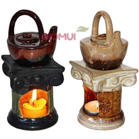 Керамическая аромалампа Чайник на камине