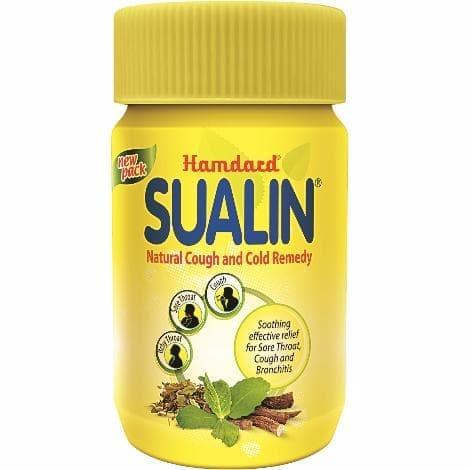 Растительные таблетки от боли в горле Sualin (Hamdard)