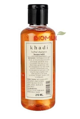Травяной шампунь для роста волос с хной и базиликом Khadi