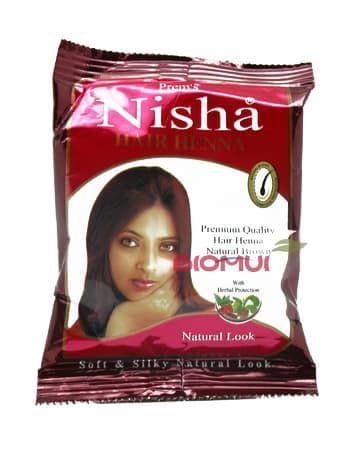 Натуральная обогащенная хна для волос Nisha