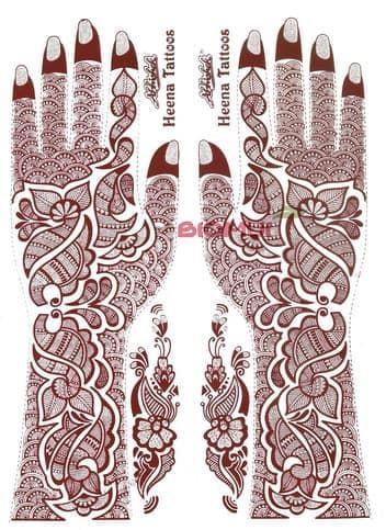 Переводное тату хной с блестками Henna tattoo (Henna Tattoo)