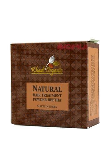 Травяной шампунь-порошок из мыльных орехов Ritha (Reetha) Khadi Organic