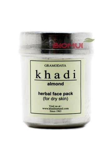 Сухая разглаживающая маска-убтан для лица с миндалем Khadi (коррекция морщин)