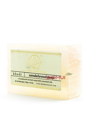 Натуральное глицериновое сандаловое мыло Khadi