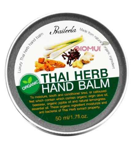 Органический бальзам для рук с тайскими травами Praileela