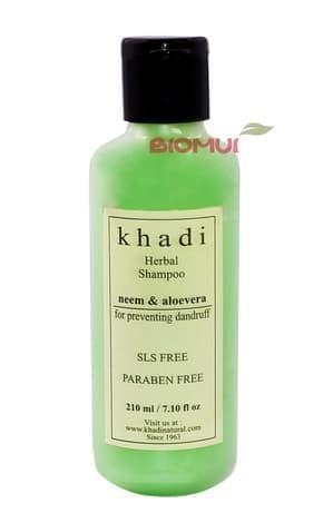 Натуральный шампунь против перхоти с ниимом и алоэ вера Khadi