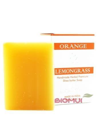 Натуральное мыло с маслом ши, красным апельсином и лимонником Indian Khadi