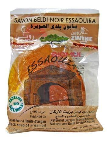Марокканское черное мыло бельди на аргановом масле Zwine