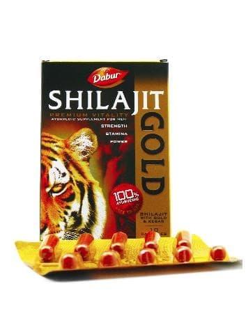 Шиладжит с золотом и шафраном (Shilajit Gold) Dabur (мужская сила)