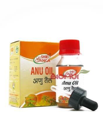 Аюрведические капли для носа Anu oil Shriganga (Shri Ganga)