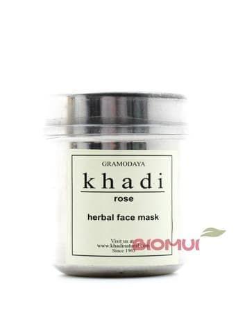 Сухая антивозврастная маска-убтан с розой для увядающей кожи Khadi