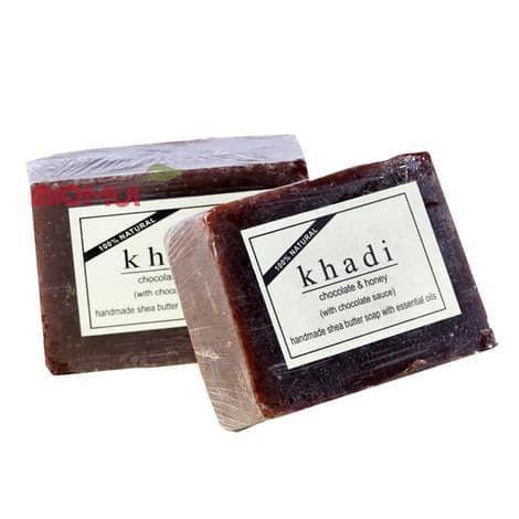 Натуральное мыло с масло ши, шоколадом и медом Khadi
