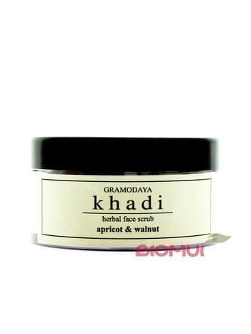Питательный крем-скраб с розой, абрикосом и грецким орехом Khadi
