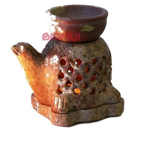Каменная аромалампа ручной работы Черепаха