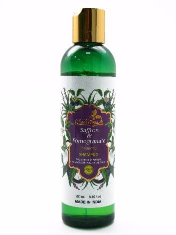 Балансирующий шампунь с шафраном и гранатом Khadi Organic