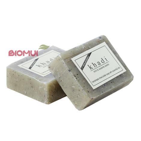 Натуральное мыло с маслом ши, кунжутом и мятой Khadi