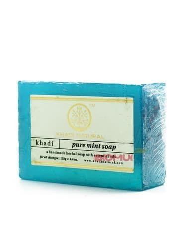 Натуральное глицериновое мятное мыло Khadi Natural