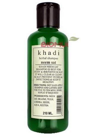 Лечебный шампунь для проблемной кожи головы с нимом Khadi