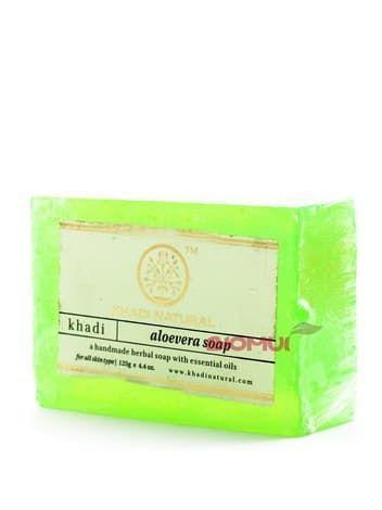 Натуральное мыло с соком алоэ-вера Khadi Natural
