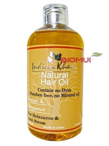 Освежающее масло для волос с апельсином и бергамотом Indian KhadiМасло для волос<br>Сделает светлые волосы объемными, сильными, шелковистыми и блестящими, надолго продлив их жизненные силы и усилив их естественный платиновый отлив.<br>