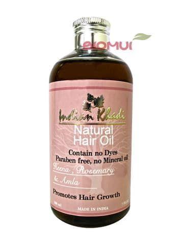 Восстанавливающее масло для волос с амлой, хной и розмарином Indian KhadiМасло для волос<br>Данное средство создано для эффективного укрепления и стимуляции роста волос.<br>