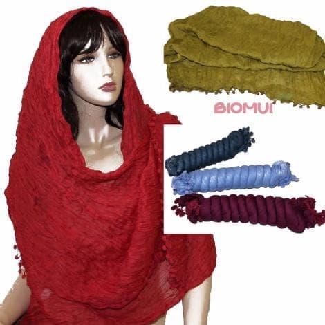 Хлопковый шарф-палантинПлатки<br>Размер 185 см. на 70 см.<br>