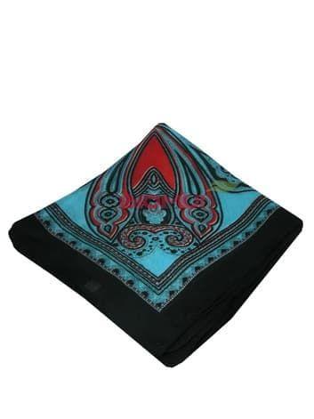 Шелковый шарф (небесно голубой с черным)Платки<br><br>
