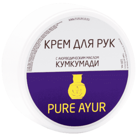 """Аюрведический крем для рук с маслом Кумкумади """"Pure Ayur"""" от BioMui"""