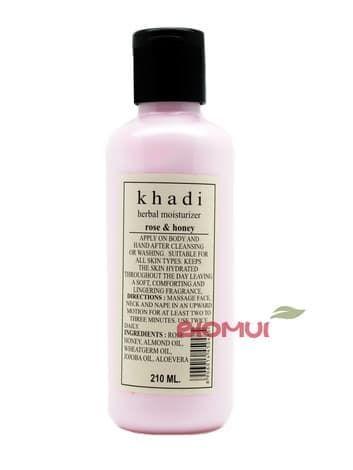 Увлажняющий лосьон для тела с розой и медом Khadi