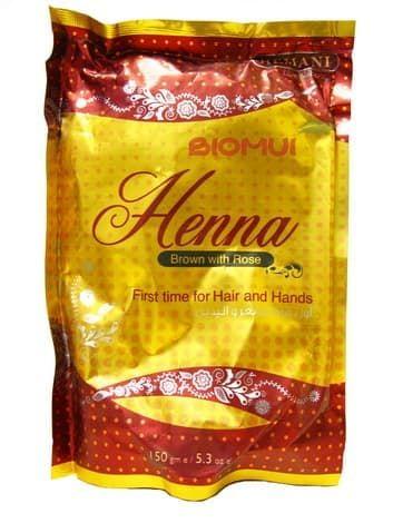 """Пакистанская хна для волос """"Hemani"""" с розой (рыже-коричневая)"""