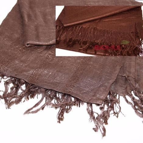 Легкий палантин из хлопка и вискозы (коричневый)Платки<br>Размер палантина 160 см. на 80 см.<br>