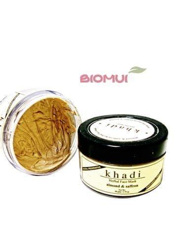 Питательная маска с миндалем и шафраном KhadiМаска<br>Для сухой кожи.<br>