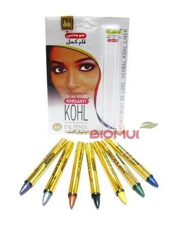 Декоративная сурьма-карандаш для глаз «Khojati»Сурьма для глаз<br>Карандаш обогащен питательными маслами. Он увлажняет и ухаживает за ресницами, при этом позволяя создавать оригинальный макияж глаз. Цвета представлены в ассортименте.<br>