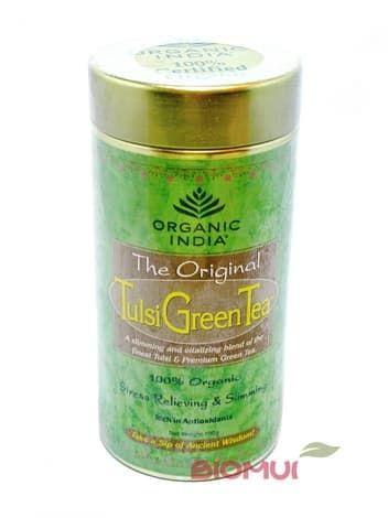 Зеленый чай с базиликом TulsiНатуральный чай<br>Снимает стресс и напряжения. Богат антиоксидантами, способствует естественному похудению.<br>