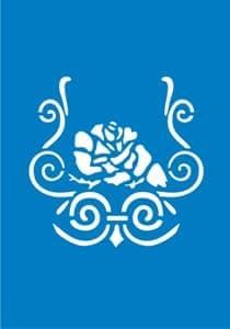 Самоклеющийся трафарет Blooming roseТрафарет для менди<br><br>