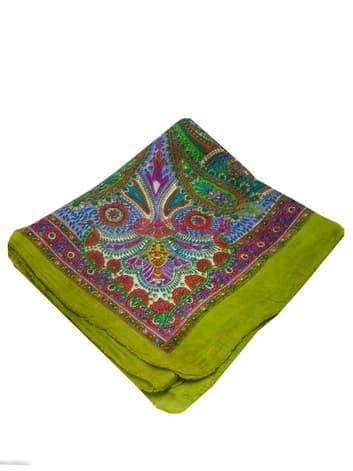 Шелковый шарф (золото с зеленым)Платки<br><br>