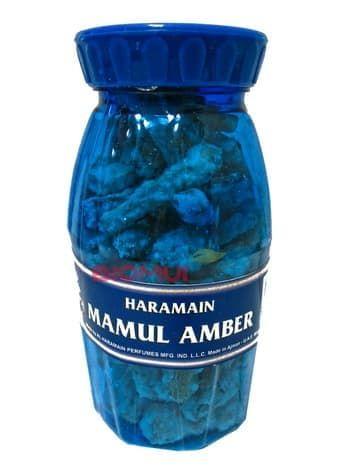 Натуральный древесно-смоляной бахур с амброй «Haramain Mamul»