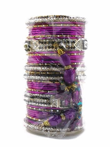 """Свадебный набор браслетов """"Vedinga"""" (Фиолетовый) от BioMui"""