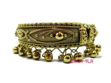 Индийский браслет с колокольчиками (медный)