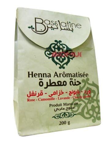 Марокканская хна для волос «Bassatine» с  ароматными травами (каштаново-медная) от BioMui