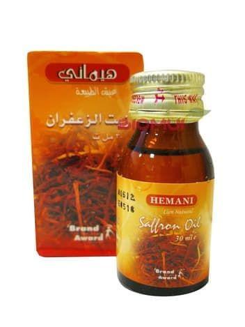 Масло шафрана HemaniВспомогательные масла<br>Масло шафрана обладает выраженными стимулирующими и оживляющими свойствами. Оно возвращает тусклой и уставшей коже молодость, свежесть и сияние.<br>
