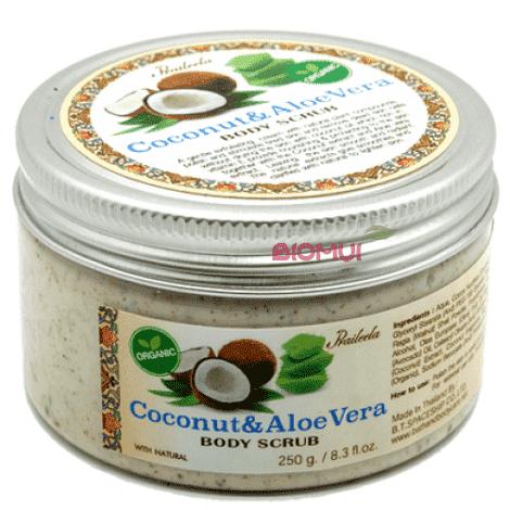 Органический скраб для тела с кокосом и алое вера